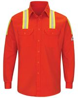 Bulwark Enhanced Visibility Long Sleeve Uniform Shirt - Long Sizes SLATORL