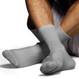Hanes Classics Mens ComfortSoft Crew Socks Grey 6-Pk CL85