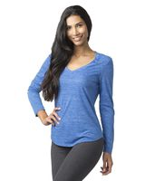 Boxercraft Women's Heather Long Sleeve V-Tee T33