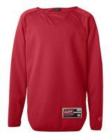 Rawlings Youth Long Sleeve Flatback Mesh Fleece Pullover 6705