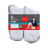 Hanes ComfortBlend® Over-the-Calf Crew Socks 6-Pack 909/6