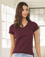 Bella + Canvas Women's Short Sleeve Jersey V-Neck Tee 6005