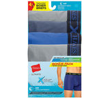 Hanes Men's Assorted Dyed X-Temp Air poly Boxer Brief 4-Pack UABB4A