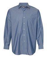 Van Heusen Chambray Spread Flex Collar Shirt 13V0465