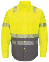Bulwark Hi-Visibility Color Block Uniform Shirt - EXCEL FR ComforTouch - 7 oz. - Long Sizes SLB4HL
