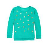 Hanes Girls' High-Low Graphic Sweatshirt K376