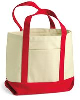 Liberty Bags 9 Ounce Small Cotton Canvas Boater Tote 8867
