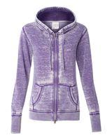 J. America Women's Zen Fleece Full-Zip Hooded Sweatshirt 8913