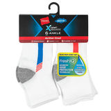 Hanes Boys' X-Temp Active Cool Ankle Sock 6-Pack HBXTA6