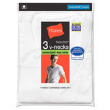 Hanes Big Mens ComfortSoft TAGLESS V-Neck Undershirt 3-Pk 777X