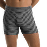 Hanes Mens TAGLESS Ultimate Fashion Stripe Boxer Briefs with Comfort Flex Waistband 5-Pk 76925S