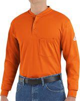 Bulwark Long Sleeve Tagless Henley Shirt SEL2