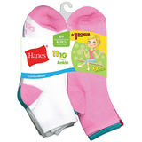 Hanes ComfortBlend® EZ-Sort® Girls' Ankle Socks 11-Pack (Includes 1 Free Bonus Pair) G40/11