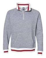 J. America Peppered Fleece 1/4 Zip Pullover 8703