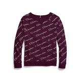 Champion Women's Plus Heritage French Terry Print Crew QW925P