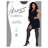 Hanes Curves Illusion Thigh Highs HSP022
