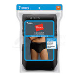 Hanes Classics Mens TAGLESS No Ride Up Briefs with Comfort Flex Waistband Black/Grey 7-Pk 7764B7