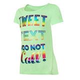 Hanes Girls Tweet Text Peplum Tee Shirt K295