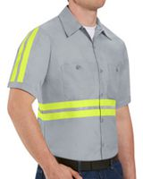 Red Kap Enhanced Visibility Industrial Work Shirt Long Sizes SP24EL
