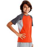 Hanes Sport™ Boys' Performance Tech Mesh Pieced Tee OD182