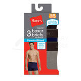 Hanes Mens TAGLESS ComfortBlend Boxer Brief with Comfort Flex Waistband 3-Pk 7549P3