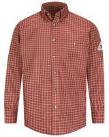 Bulwark Plaid Dress Shirt - EXCEL FR ComforTouch - Long Sizes SLG8L