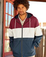 Weatherproof Vintage Colorblocked Hooded Rain Jacket 20601