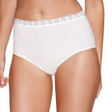 Hanes Womens Cotton No Ride Up Brief with Lace 5-Pk PL40AS