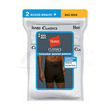 Hanes Classics Mens TAGLESS No Ride-up Boxer Briefs with Comfort Flex Waistband 2X-4X 2-Pk 7690W2