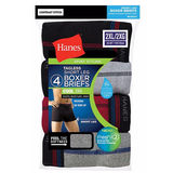 Hanes Men's Sport Cool DRI Short Leg Boxer Briefs Comfort Waistband 2XL 4-Pack MCBAS4