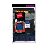 Hanes Mens TAGLESS ComfortSoft Knit Boxer with Comfort Flex Waistband 5-Pk 548BX5