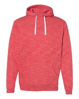 J. America Melange Fleece Hooded Pullover Sweatshirt 8677