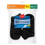 Hanes Boys No-Show EZ Sort Socks 10-Pk 424/10