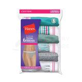 Hanes Womens Cotton String Bikini 6-Pk PP42SC