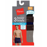Hanes Men's TAGLESS ComfortBlend Boxer Brief with Comfort Flex Waistband 3-Pack 2549P3