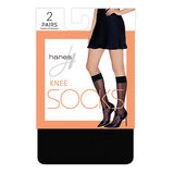 Hanes Knee High Socks, 2-pack HFT021