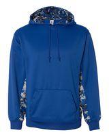 Badger Digital Camo Colorblock Performance Fleece Hooded Sweatshirt 1464