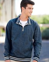 J. America Relay Fleece Quarter-Zip Sweatshirt 8650
