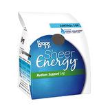 L'eggs Sheer Energy Control Top Reinforced Toe Pantyhose 6-Pack 65211