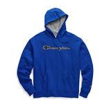 Champion Men's Powerblend Fleece Pullover Hoodie, Chainstitch Outline Logo