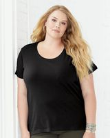 LAT Curvy Collection Women's Scoopneck Premium Jersey Tee 3804