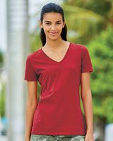 Fruit of the Loom HD Cotton Women's V-Neck T-Shirt L39VR