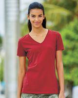 Fruit of the Loom HD Cotton Women's V-Neck T-Shirt L39VR