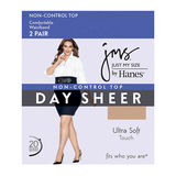 JMS Smooth Finish Regular Sheer Toe Panty Hose 2-PK 88801