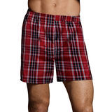 Hanes Mens TAGLESS Ultimate Fashion Boxer with Comfort Flex Waistband Assorted Pattern Blues/Reds 3-Pk UTHXZ3