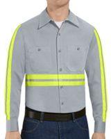 Red Kap Enhanced Visibility Cotton Work Shirt Long Sizes SC30EL