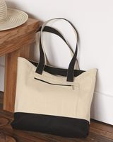 Q-Tees 18. 6L Canvas Zipper Tote Q1300
