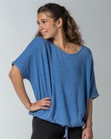 MV Sport Angel Terry Slouch Tie Up Tee W19149