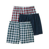 Hanes Men's TAGLESS Woven Boxers with Comfort Flex Waistband 3X-5X 3-Pk HN155W