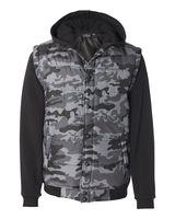 Burnside Nylon Vest with Fleece Sleeves 8701